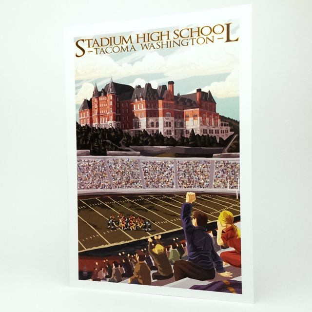 Stadium High School Tacoma Washington Greeting Card