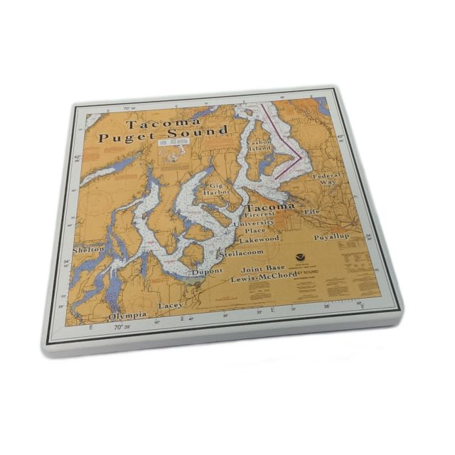 Tacoma & South Puget Sound Ceramic Trivet and Wall Hanging - 7