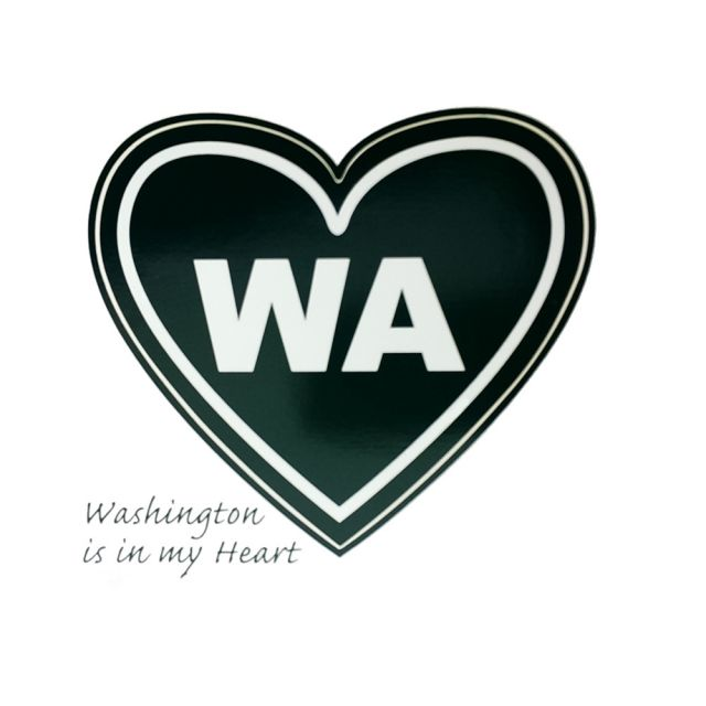 Washington Is In My Heart Love Sticker